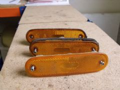 MAZDA MX5 EUNOS (MK1 1989 - 97) LHS REAR BUMPER REFLECTOR - ORANGE LEFT